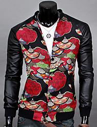 Men's Casual Shirts , PU Long Sleeve Casual Bnuosi