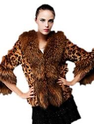 chaleco de imitación de piel de leopardo patrón