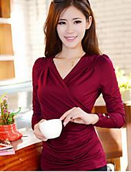 manches longues col V style coréen blouse de coco zhang femmes