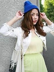 el color del caramelo fluorescente lana de sombrero de punto unisex