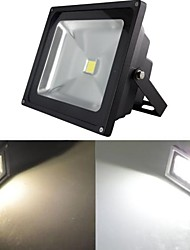 Black Waterproof 50W 5000LM 2800-7000K Cold White Light and Warm White Light LED Flood Lamp (85V-265V)