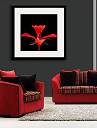 Framed Canvas Art, Red Flowers Framed Canvas Print