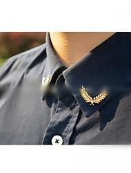 Men Jewelry Collar Pin Gold-tone Collar Tips
