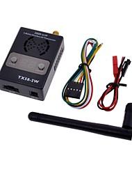 5,8 g FPV 2W 32CH transmisor AV Wireless con led tx58-2w pantalla