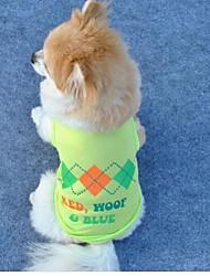luz de poliéster animais de estimação veste verde, arrefecimento roupas cachorro roupas casaco (tamanhos variados)