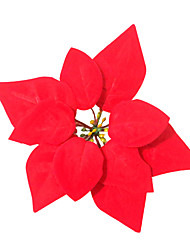 Artificial Red Christmas Flower Decoration