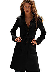 ER Elegant Long Sleeve Long Coat