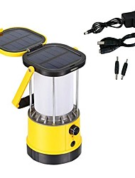 LED Solar Power Camping Lantern Bright Lights Lamp Mobile Phone Charger