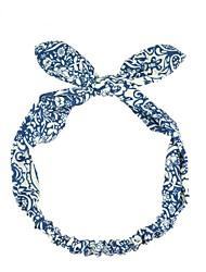 elegante banda de pelo de la tela del conejo azul y blanco