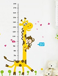 Lovely PVC Giraffe Height Wall Sticks