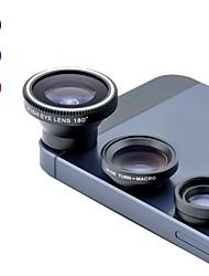 ângulo universal magnético 0.67x largura e 180 ° olho peixe e macro conjunto de lentes para celular e câmeras digitais