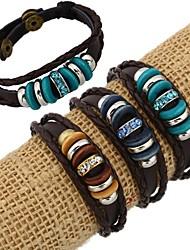 z&perles de la mode punk x® et bracelets de brins de cuir strass