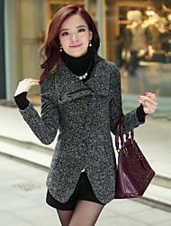 SSMN® Women's Tailor Collar  Bodycon Duffle Coat Outerwear