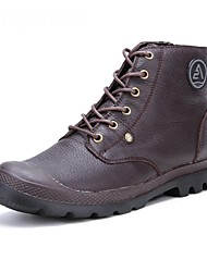 Men's Shoes Casual Leather Boots Blue/Brown