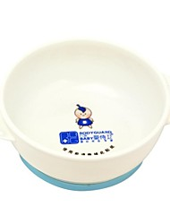Plastic Baby Tableware Baby Slip Bowl with Blue and Pink Colors
