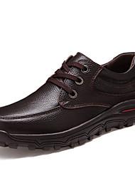 Homme Chaussures Cuir Printemps Eté Automne Hiver Confort Semelles Légères Lacet Pour Décontracté Noir Marron