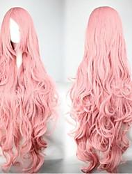 Wavy Long Hair Cosplay Wig Pink Popular Cosplay Party Wig