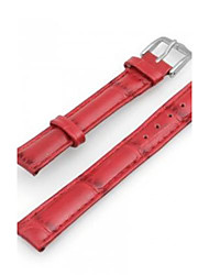Women's or Men's PU Leather Watch Band Strap 200MMx16MMx 3MM(Red)