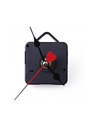 Clock Movement Mechanism Black Hour Minute Red Heart Second Hand DIY Tools Kit