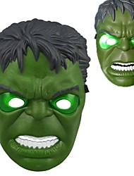 lumineux froid led masque hulk pour Halloween (blanc&vert)