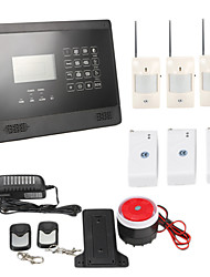 LCD Home Security Wireless GSM SMS Autodial Burglar Alarm Kit Pet-immunity PIR