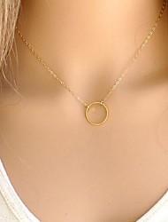 Frauen europäischen Mode Kreis-Legierung dünn Halskette (1 PC)