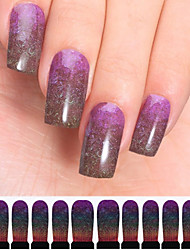 12PCS Star Design Watermark Nail Art Stickers C7-001