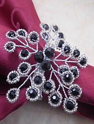 rond de serviette perles de fleur, acrylique, 4,5 cm, lot de 12