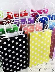 Crafts Party Polka Dot Paper Gif Bags Portable Paper Bag