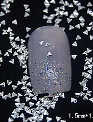 100PCS Small Triangle Silver Metal Rivet Nail Art Decoration