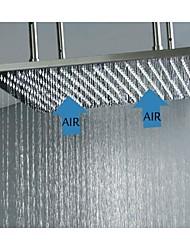 20 pouces ceil monté en acier inoxydable 304 précipitations tête salle de douche avec fonction d'économie d'eau d'injection d'air