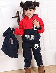 Children's Fashion with Hooded Three Piece Thickening Warm Clothing Set