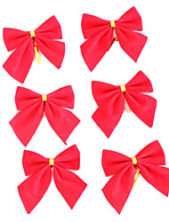 Red Bowknot Christmas Tree Decoration-Set of 12