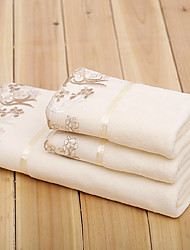 Christmas Gift Microfiber Lace Bath Towel and Towel,Set of 3