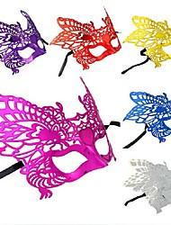 Plastic Material Fancy Dress Party Halloween Mask (Random Color)
