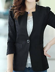 magro sete trimestre manga blazer de Jansa ™ mulheres