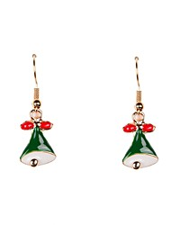 Cute Enamel Christmas Bell Earrings