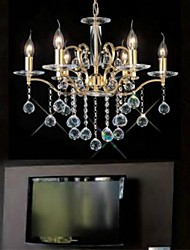 Luxury Six Head Of Household Crystal Chandelier