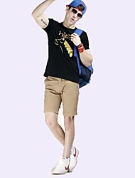 Men's Solid Casual / Sport Shorts,Cotton Blend