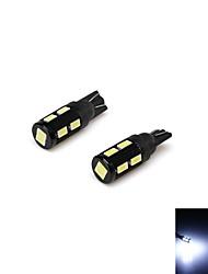 t10 5W 500lm 6000k 10-SMD 5730 LED-Weißlicht-Lampe Fahrzeugbreite / Kennzeichenleuchte / Türlampe (12V / 2 Stück)