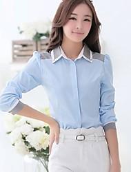 revers fixé tarière correspondance des couleurs chemise à manches longues de base des femmes