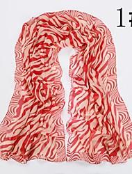 женская мода зебра шарф