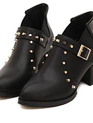 moda meilisha extremo afilado talón grueso boots_57 moda