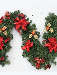2,7 m de cana vermelho decoração de natal