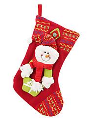 """16 """"calza di flanella regalo di Natale pupazzo di neve"""