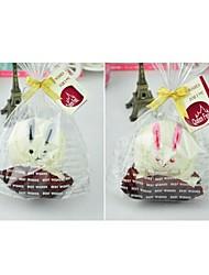 fibre de forme de cadeau d'anniversaire de lapin serviette créatrice (couleur aléatoire)