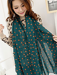 Beileier Women's Temperament Fashion Elegance Polka Dots Scarf
