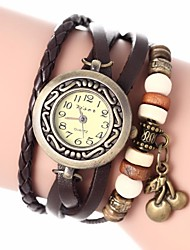 Women's Vintage Style Cherry Pendant Leather Band Quartz Analog Bracelet Watch (Assorted Colors) Cool Watches Unique Watches Fashion Watch