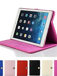 Rhombus Diamond Magnetic Buckle Leather Smart Case Cover Stand for Apple iPad Air 2(Assorted Colors)