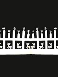 valla de ciervos pegatinas de puertas de cristal de navidad